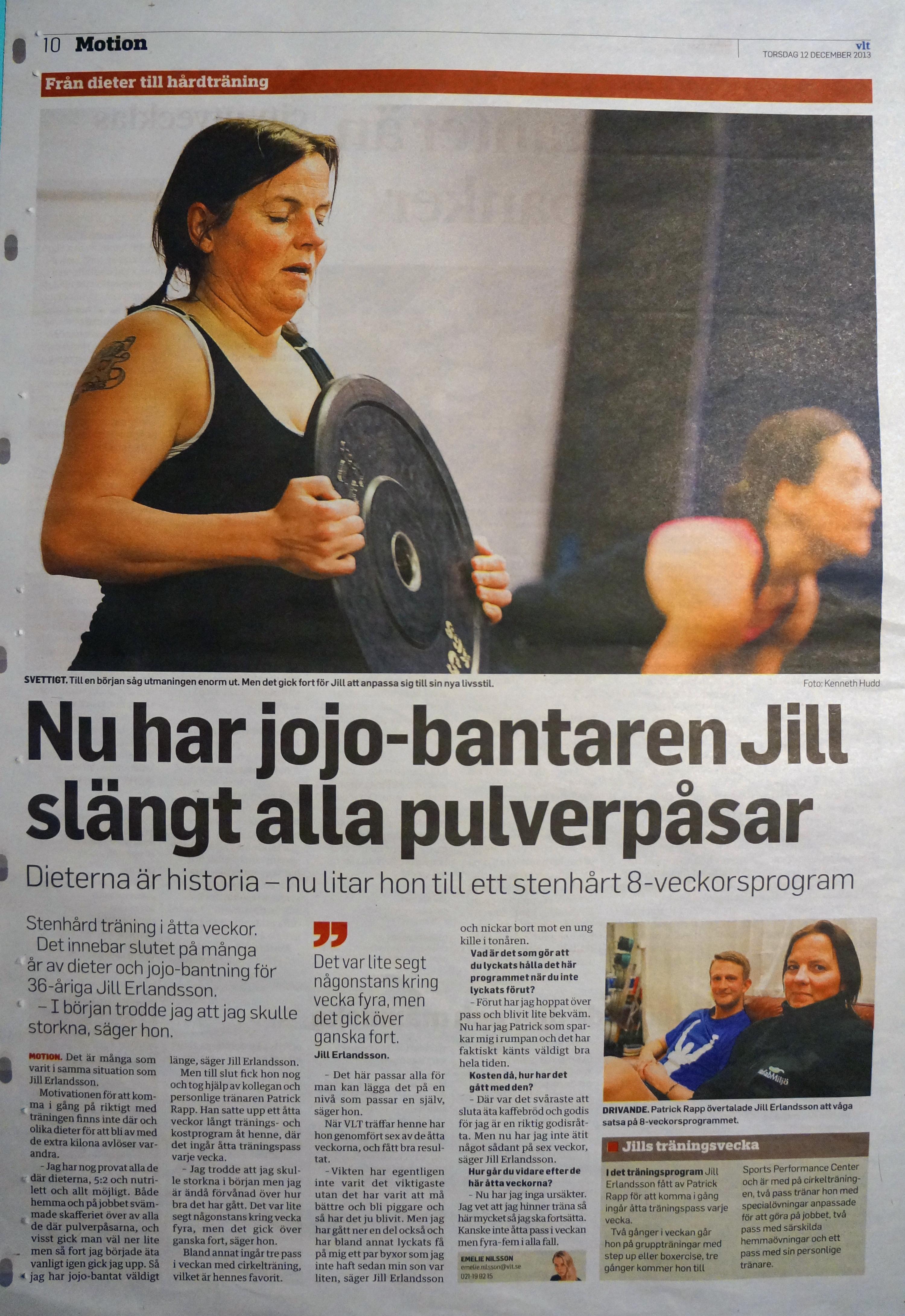 Jill vikt hälsa personlig träning västerås pt personlig tränare iktminskning hårdträning dieter diet 5:2 lchf förändring
