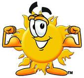 sol med muskler sun with muscles pt personlig träning personlig tränare personal trainer västerås gym world class sats actic factor träning träna gruppträning semseter sol sommar