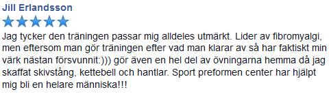 jill referens recension pt personlig träning tränare västerås västmanland träning gym