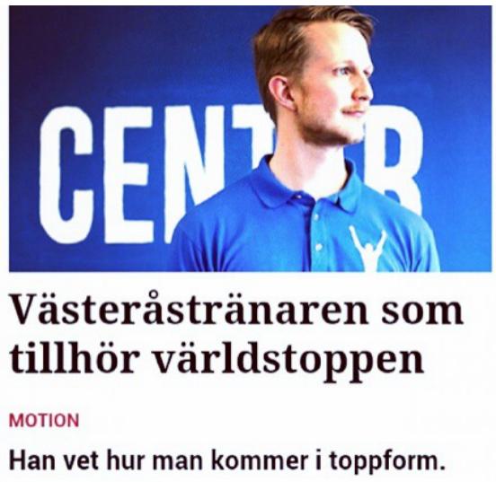 patrick rapp pt årets pt personlig tränare träning life fitness vlt sport performance center sats world class factor member 24 malmqvist