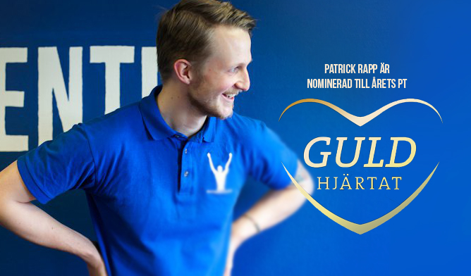 nominerad årets pt patrick rapp 2015 guldhjärtat västerås personlig tränare träning personal trainer training world class member 24 fitness factor arctic hässlö