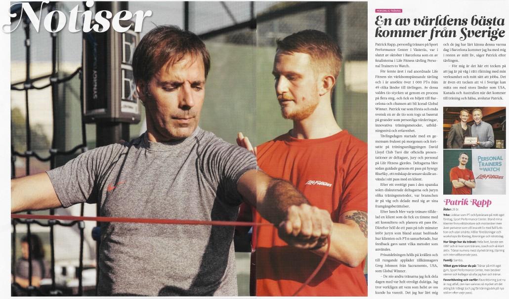 Check magazine pttw pt personlig tränare träning västerås patrick rapp hälsa må bra diet gå ner i vikt world class actic member 24 factor functional gym crossfit