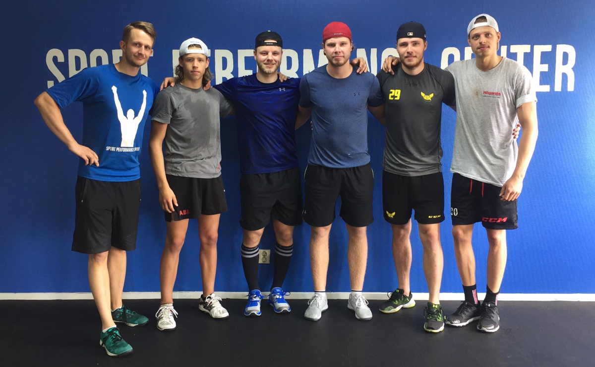 Under sommaren tränar hockeyspelare från VIK, Timrå, Tingsryd, Norge och Finland sin fysträning på Sport Performance Center i Västerås