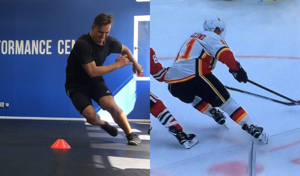 Hockeyspelaren Mikael Backlund tärnar fysträning på Sport Performance Center i Västerås