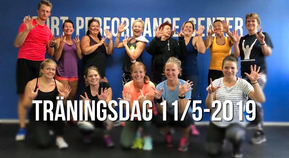 Den 11 maj är det dags för ytterligare en träningsdag på Sport Performance Center. Bilden visar deltagarna från förra omgången.