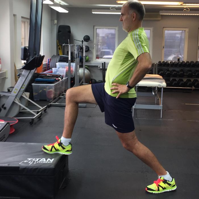 Bilden visar Claes som gjort en löpanalys hos Patrick Rapp på Sport Performance Center i Västerås